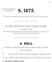 S. 1675 Act Prison Reform